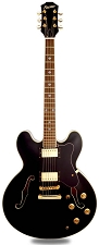 NEW! XV-900 Semi Hollowbody Gloss Black Gold ALnico Fat Pats -Blem