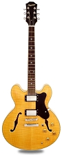 NEW! XV-900 Semi Hollowbody Flamed Maple Alnico Fat Pats Deep Natural -Blem 2