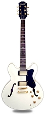 NEW! XV-900 Semi Hollowbody Alnico Fat Pats Gloss White/GOLD Hardware -Blem
