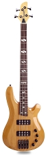 DLX Bass Active Preamp, Carved Body,  24 Fret Natural