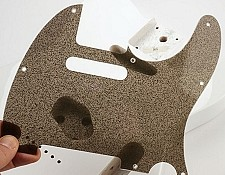 "Telecaster Pickguard See Through ""Starmist"" finsih"