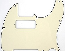"Tele Pickguard cut for neck Mini Humbucker ""1964 Aged White"""