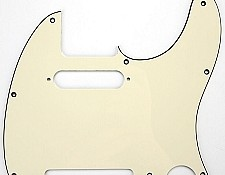 "Telecaster Pickguard cut for Neck Strat pickup ""1964 Aged White"""