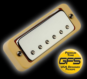 Hot Mini Crunchy- OVERWOUND Mini Humbucker 12K Bridge CREAM ring