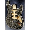 Black Mother of Pearl Stratocaster Style Body Cream Binding