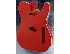 Double Bound Lightweight Telecaster Style Body Fiesta Red