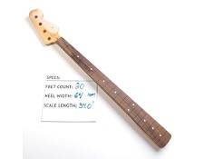 Satin Finished, Maple Bass Neck with Rosewood Fingerboard - No frets