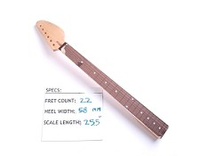 "Satin Finished, Maple ""Vox Style"" Neck with Rosewood Fingerboard - No Frets"
