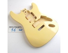 "Gloss Finished, Vintage Cream, ""Stratocaster Style"" Body"