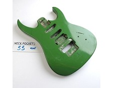 Gloss Finished, Irish Green, Double Cutway Body, HSS with Floyd Cut