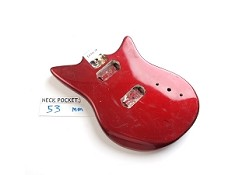 "Gloss Finished, Candy Apple Red, Offset ""RF Style"" Body, HH"