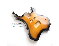 Gloss Finished, Vintage Sunburst, Heavy Metal Style Body - 7 Strings