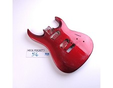 Gloss Finished, Candy Apple Red, Double Cutway Body, HH
