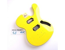 "Gloss Finished, Monaco Yellow, ""Famous Brand"" Style Body, HH with Binding"