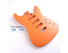 Satin Finished, Orange, Stratocaster Style Body, SSS