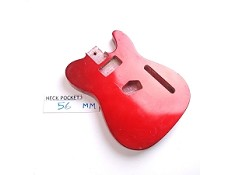 "Gloss Finished, Rocket Red, ""Telecaster Style"" Body - P90/Tele"