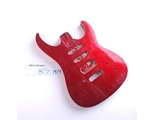 Gloss Finished, Metallic Red, Double Cutway Body, HSS with Binding