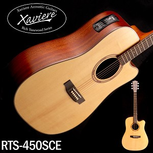 Xaviere ALL WOOD Electric Cutaway Dreadnaught Solid Spruce Top Mahogany