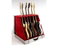 Aluminum Flight Guitar Folding Case- DELUXE version- Folds to briefcase!