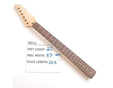 22 Fret, Satin Finished, Maple Neck with Rosewood Fingerboard