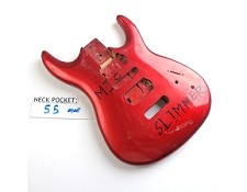 Gloss Finished, Metallic Candy Apple Red, Double Cutway Body, HSH