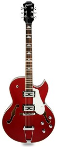 XV-950 Hollowbody GFS Retrotrons, Flamed maple Candy Apple Red