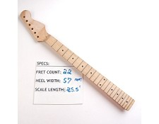 "22 Fret, Satin Finished, Maple Neck ""Stratocaster Style"" with Maple Fingerboard"