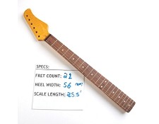 21 Fret, Amber Gloss Finished, Maple Neck with Rosewood Fingerboard