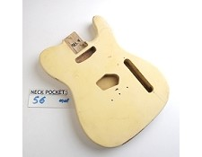 "Gloss Finished, Vintage Cream, ""Telecaster Style"" Body"