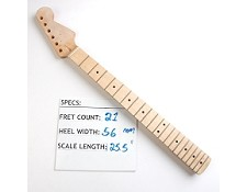 "Satin Finished, Maple ""Stratocaster Style"" Neck with Maple Fingerboard"