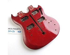 "Gloss Finished, Red, ""Double Neck Style"" Body"