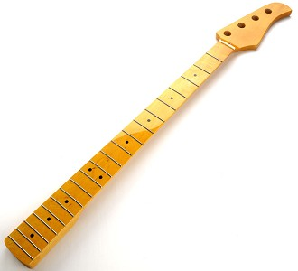 Bass Neck Vintage Amber Gloss Finish Maple Fingerboard