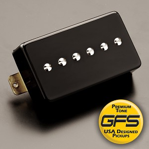 KP - Mean 90 - TRUE Alnico P90- FAT and Loud, Gloss Black- Kwikplug™ Ready