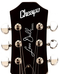 "Waterslide Decal ""Cheapo Less Dull"" White Lettering for 3x3 Headstocks"