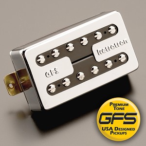KP - Memphis Alnico 2 Rickenbacker® tone Vintage Jangle Pickup, Chrome - Kwikplug™ Ready