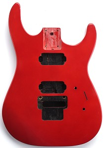 "NEW ""Dinky"" style HH body cut for Floyd Rose Solid Poplar Metallic Red Free Back Covers"