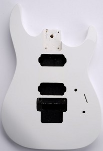 "NEW ""Dinky"" style HH body cut for Floyd Rose Solid Poplar Polar White Free Back Covers"