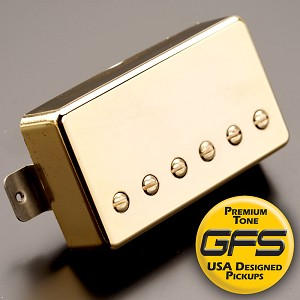 KP - Alnico Fat Pat Boutique Humbucker, Gold - Kwikplug™ Ready