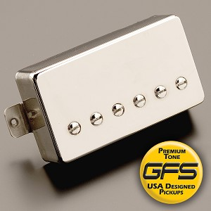 GFS professional Series Alnico V HOT Humbucker Nickel Case Bridge Pickup