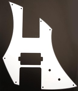 """Powerslide"" White Lap Steel pickguard for single Humbucker"