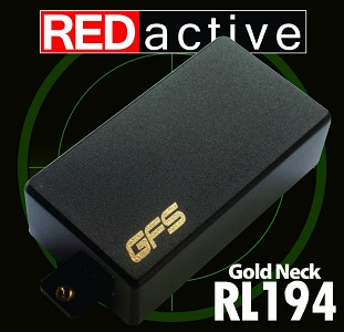 REDactive Gold Modern Humbucker Active Neck Black