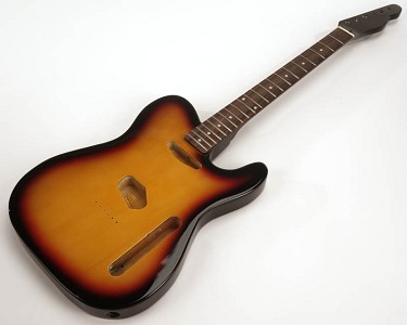 SPECIAL PURCHASE! Sunburst Tele Style GLUED-IN Setneck, Traditional Single Coil Rosewood F/B