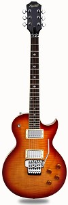 "NEW! XV555 Double Locking Tremolo Carved Top LP ""Honey Burst"" Flame Maple"