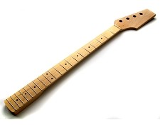 Bass Unfinished Paddle Headstock Neck Maple Fingerboard