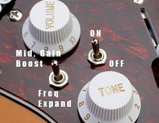 """Dual Boost"" two switch Onboard Mid Bosst/Frequency Expander"