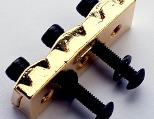 42mm Rear Mount Floyd Rose Locking Nut. Gold includes hardware.