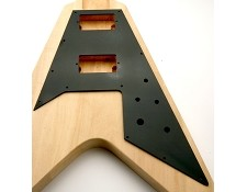 Flying V Pickguard- Gloss Black