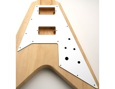 Flying V Pickguard- Gloss White