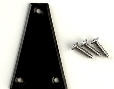 Truss Rod Cover- Textured Black Triangle with screws