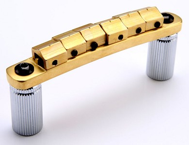XGP SOLID BRASS locking Tuneomatic bridge, locking Saddles- ALL BRASS!
